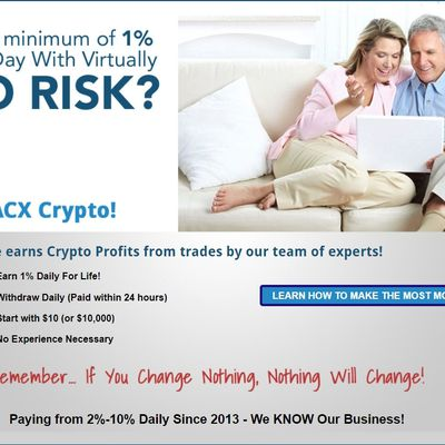 ACX CRYPTO - a Cryptocurrency Trading Profit Sharing Program