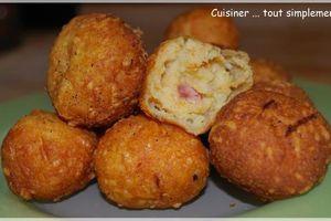 Croquettes épicées au Fromage et au Jambon