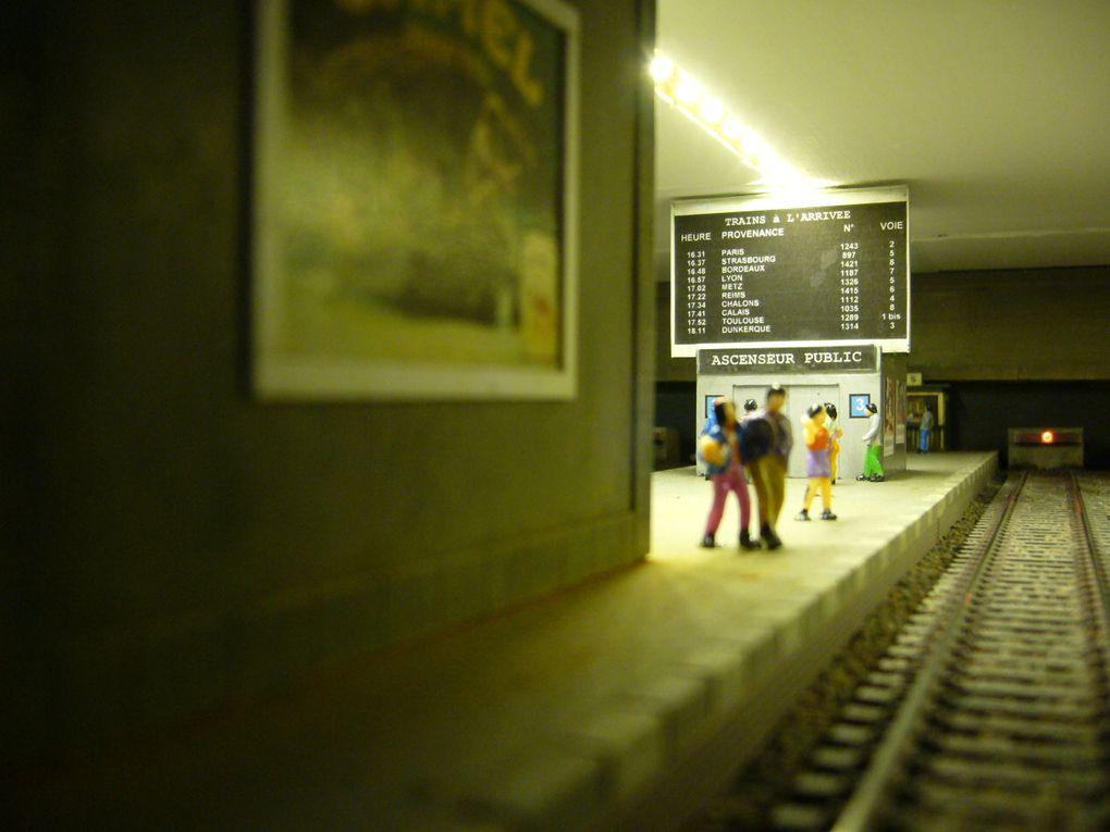 vue nocturne de la gare terminus