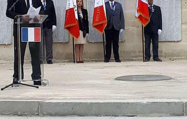 Commémoration abandon des harkis du 12 mai 2018, à Montpellier (34)
