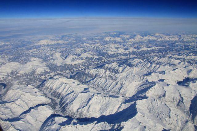 Vues aériennes des Alpes