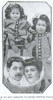 Joseph Laroche, un ingeniero de origen haitiano, educado en Francia, viajaba con su familia en el barco. Se cree que era el único pasajero negro del Titanic.- El Muni.