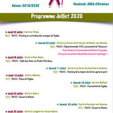 Programme Marche Nordique Club GEA Juillet 2020