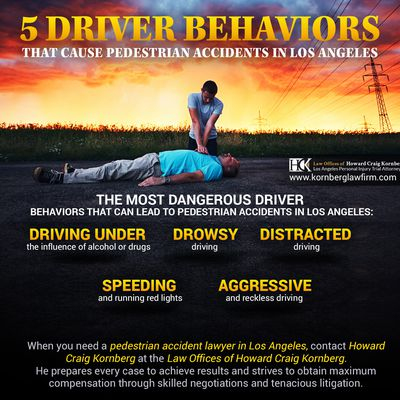 5 Driver Behaviors That Cause Pedestrian Accidents in Los Angeles