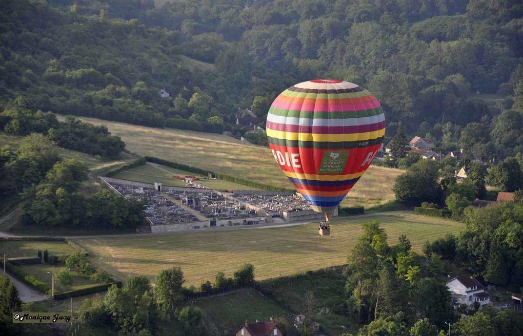 Lors de mon vol en montgolfière du samedi matin 26 juin 2010.