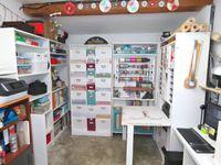 Scraproom - Tour - Atelier - 2019 - Scan N Cut - Ordinateur - Ikea hacks - Kallax - Billy - Secrétaire - Photos - Rangement