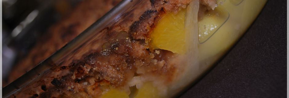 Crumble Pêches - Nectarines - Pommes et Spéculoos