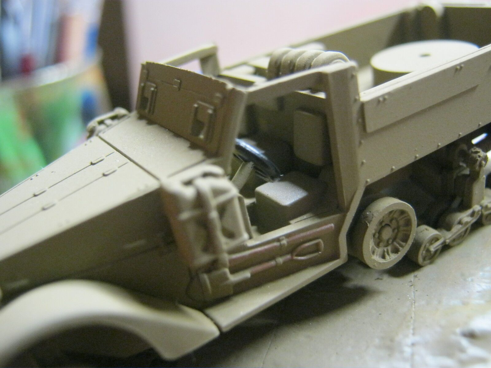 M 16 HALF TRACK [ REVELL 1/76] partie 4