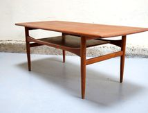 table basse scandinave arrebo mobler danois vintage danish teck années année 50 60 mad men decoration interieur mobilier design designer teck. Møbler