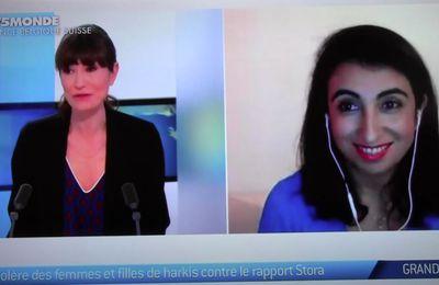 TV5 Monde Grand Angle avec Fatima Besnaci-Lancou et Dalila Kerchouche.