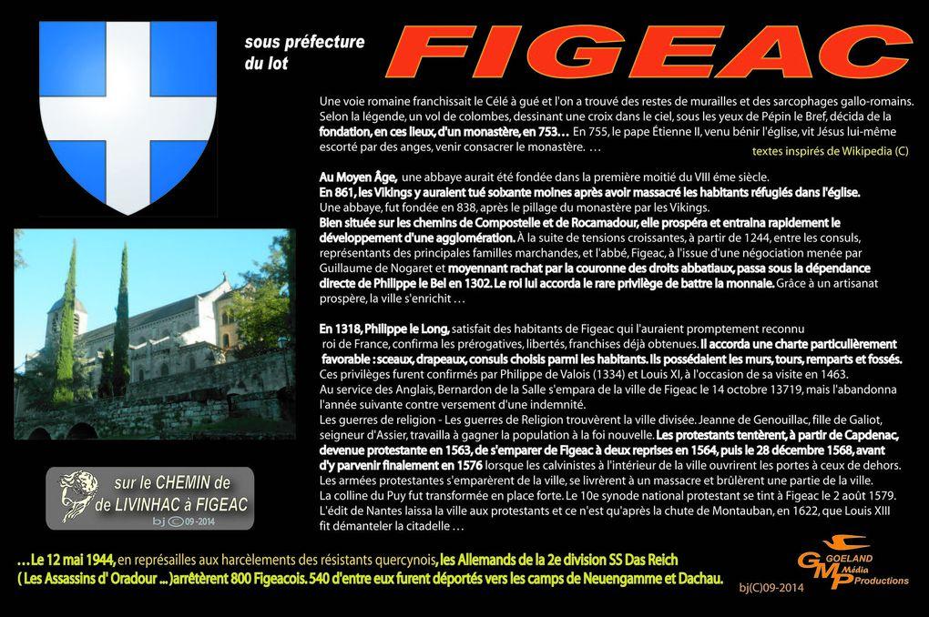 FIGEAC - Visite au petit matin avant le départ - CLIQUEZ sur les PHOTOS pour Gd FORMAT !