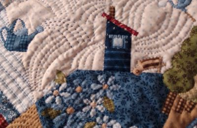 """Quilting des maisons """" House and country garden """""""
