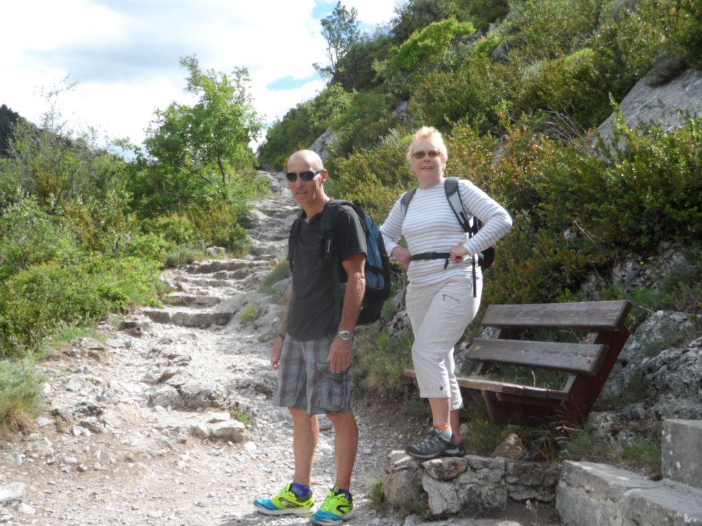avec ma soeur, dans les gorges du Verdon.