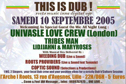 """Tous les meilleurs <span style=""""font-weight: bold;"""">flyers des soir&eacute;es reggae</span> du mois de <span style=""""font-weight: bold;"""">Septembre 2005</span><br/>"""