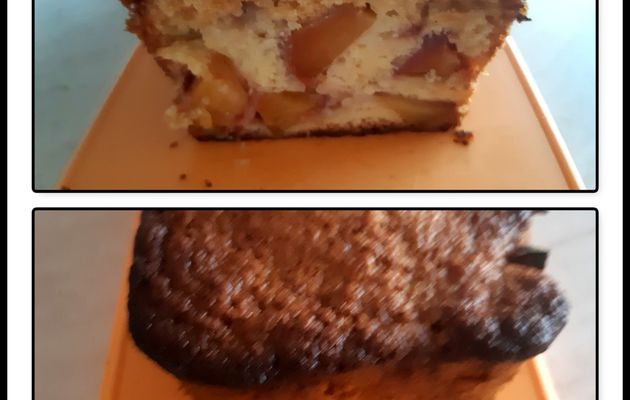 Cake aux pêches