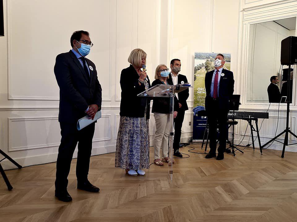 NOUVEL OFFICE DU TOURISME D'ORLEANS : inauguration officielle, prises de parole de Marie-Philippe Lubet et Christophe Chaillou