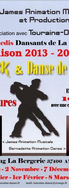 Touraine Danse au Dancing la Bergerie à Amboise - Saison 2013/2014
