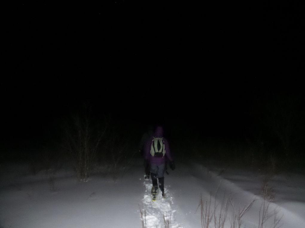 Marche d'environ 1h15 (4 km) au clair de lune