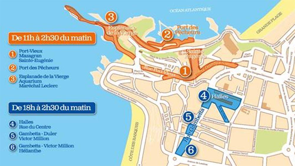 Piétonnisation du centre ville de Biarritz