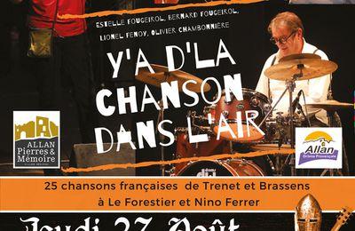 Concert au théâtre de verdure d'Allan le 27 août 2020