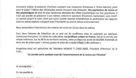 Corrida BASTA : Mobilisation !