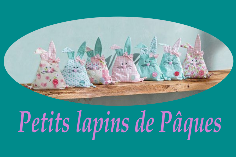 Patron couture gratuit petits lapins de Pâques