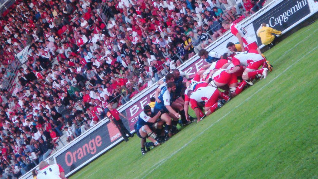 Biarritz Olympique-Montpellier. TOP 14 saison 2010-2011, 1ère journée, le vendredi 13 août 2010 au Stade Aguiléra de Biarritz (64). Score final : 30-22. Photos : Nicolas Gréno.