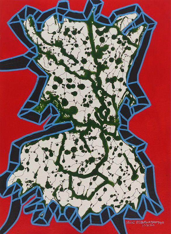 N°641 - Acrylique sur papier 29,7 x 40,6 cm - Octobre 2020