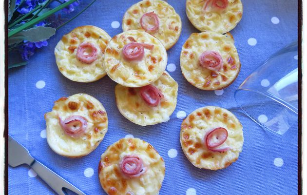 Minis tartelettes au jambon