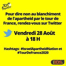 Appel à action: Participez à la tweetstorm #IsraelApartheidNation le 28 août prochain à 18H