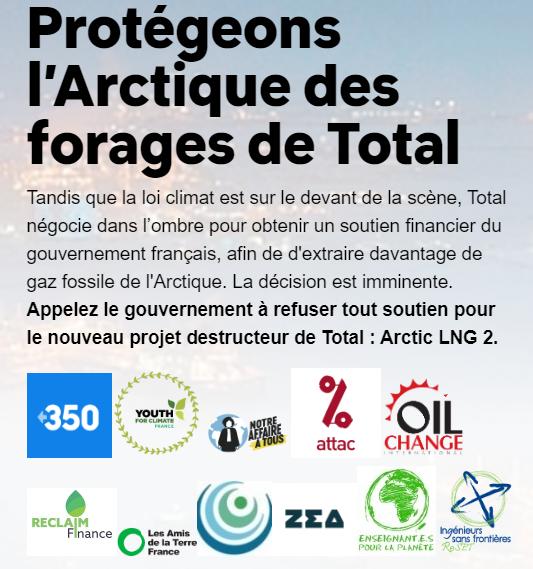 Protégeons l'Arctique des forages de Total