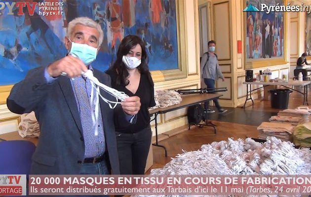 Coronavirus :: 20 000 masques seront distribués aux Tarbais (24 avril 20) | La Télé des Pyrénées