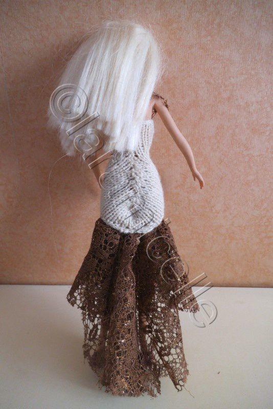 tuto gratuit barbie : robe de soirée fourreau et dentelle , ou robe de mariée