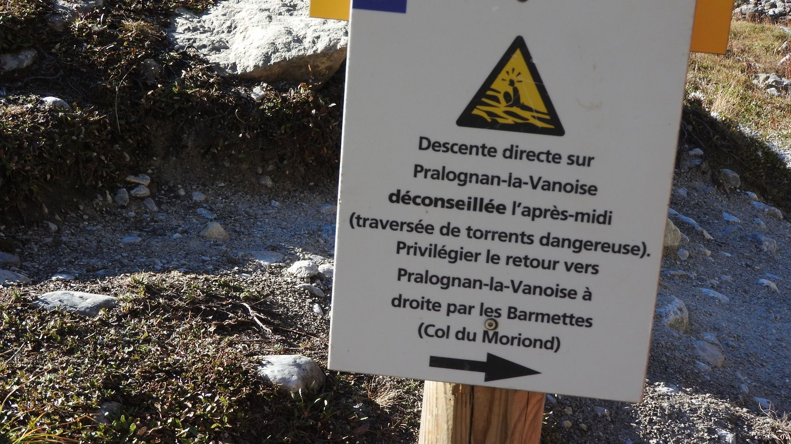 L'embranchement Moriond/Col Vanoise
