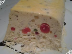 Nougat glacé et son coulis de fruits rouges au thermomix