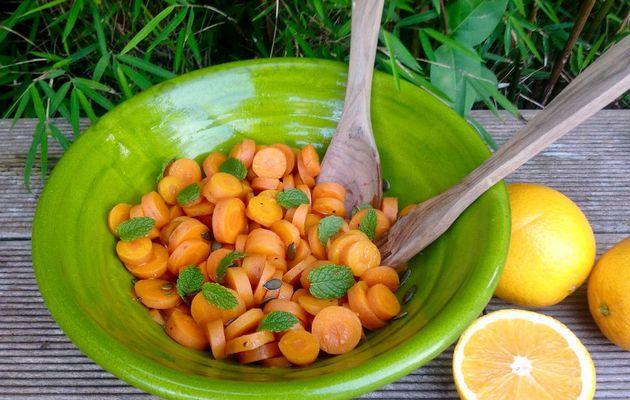 Salade de carottes orangée