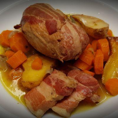 Paupiette de porc aux carottes et cumin
