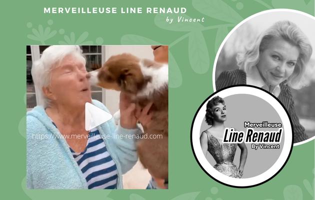PRESSE WEB : Muriel Robin présente sa chienne à Line Renaud, et c'est trop mignon