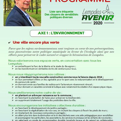 Notre programme