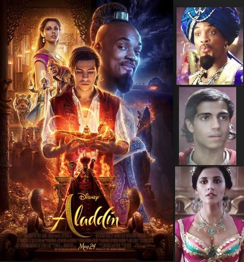 ALLADIN Will Smith,Mena Massoud, Naomi Scott,Marwan Kenzari ,Navid Negahban