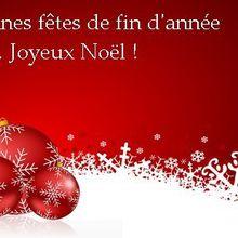 Bonnes fêtes de fin d'année à tous ...