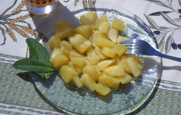 Ananas poêlé au miel