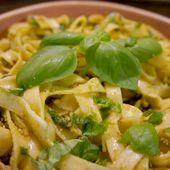 Tagliatelles au Pesto fait maison - Recettes de Papounet