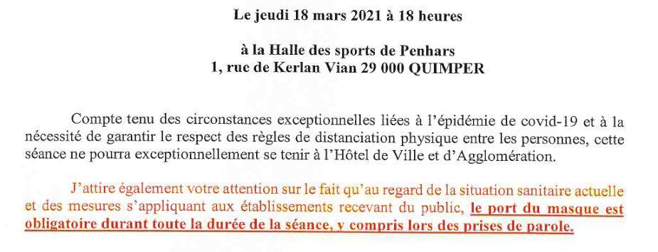 Conseil communautaire demain jeudi, à la Halle des sports de Penhars