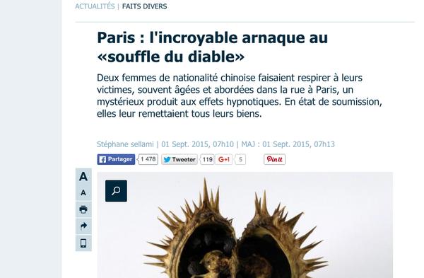 Article of Le Parisien