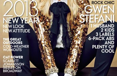 ANNIE LEIBOVITZ SHOOT / VOGUE USA JANUARY 2013 WITH GWEN STEFANI IN SAINT LAURENT PARIS