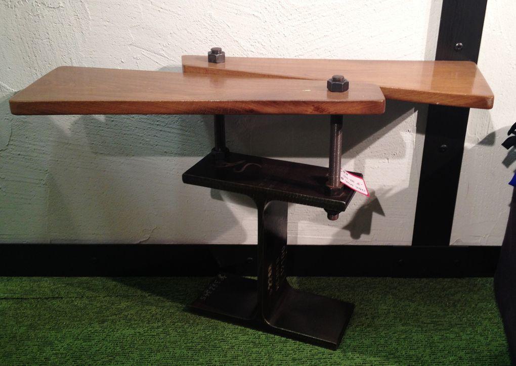 Table d'Appoint - IPN & Bois de Récupération - Plusieurs Modèles Disponibles mais tous Différents - 170.00€