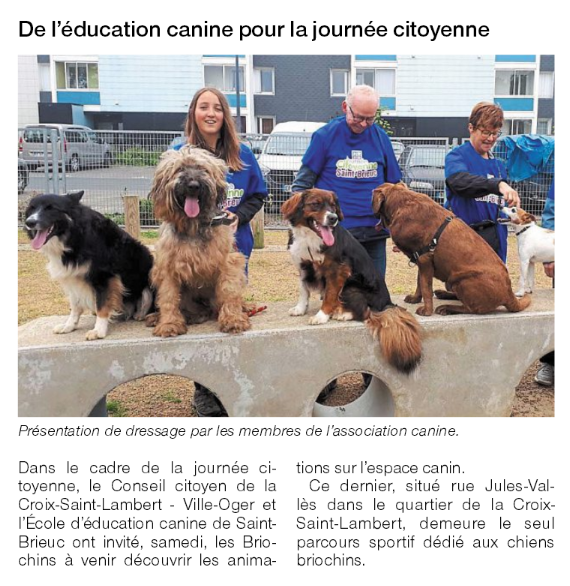 Un acticle du Ouest France du 28.05.2018