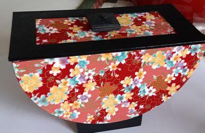 Deux jolies boîtes recouvertes de papiers ...