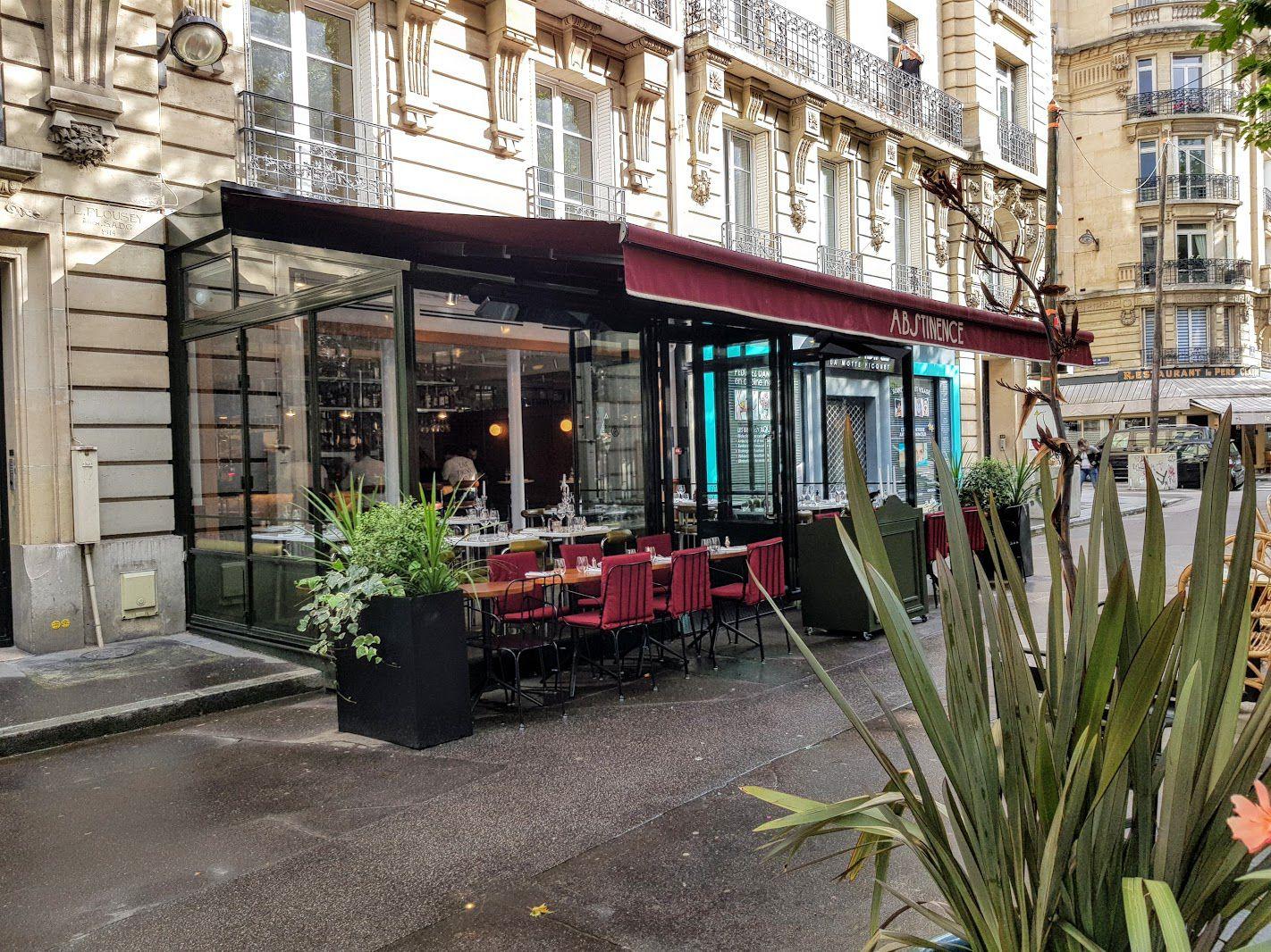Abstinence restaurant Paris 15